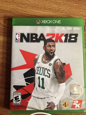 2k18 for Xbox one for Sale in Philadelphia, PA