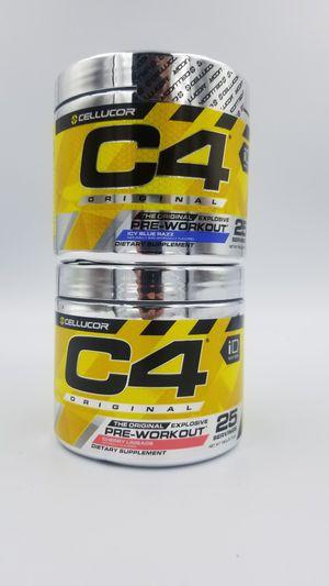 (2) Cellucor C4 Original iD Series Preworkout 25 Servings for Sale in Hazard, CA
