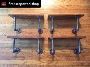 Oak & Pipe shelves for Sale in New York, NY