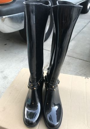 Faux Leather Black Rain boots With Spikes for Sale in Vallejo, CA