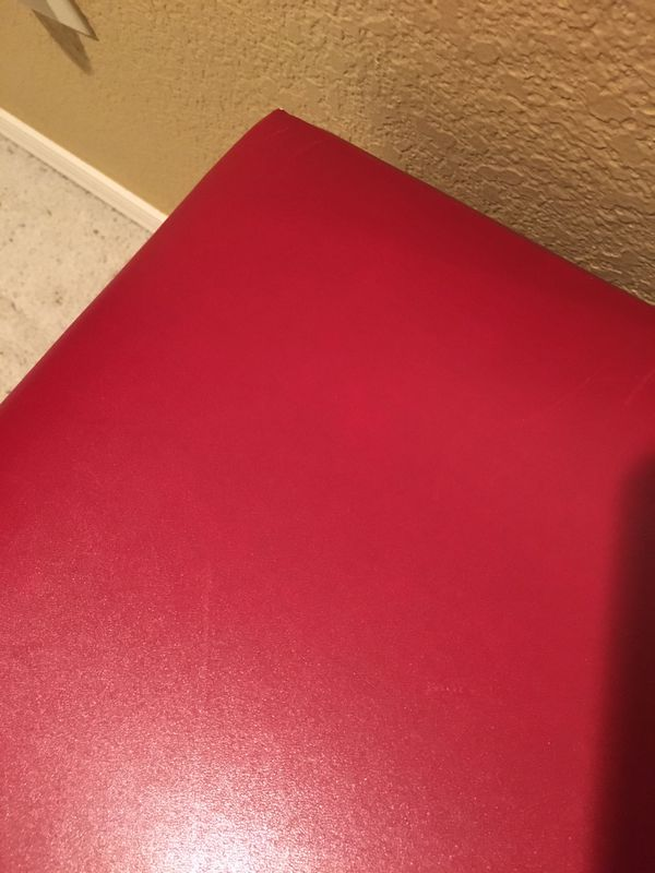 2 Red Ottomans/Bench/Seating