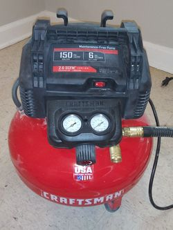 Craftsman Air Compressor and heavy duty air line and Accessories for Sale in Covington,  GA