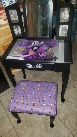 Jack Skellington vanity and stool for Sale in Phoenix, AZ