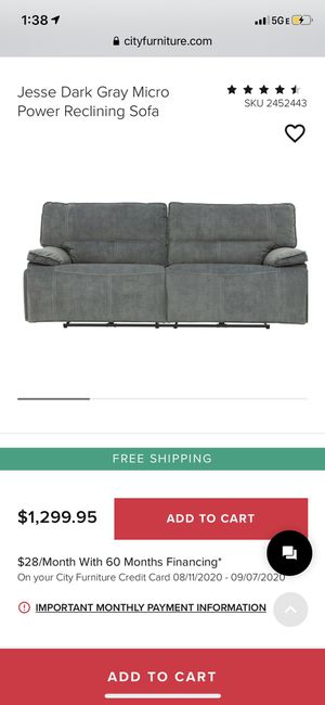 Power reclining sofa barely used for Sale in Medley, FL