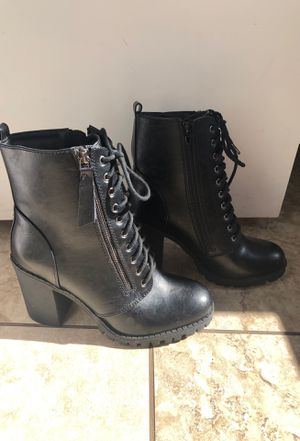 Heeled combat boots 7 1/2 for Sale in Moreno Valley, CA