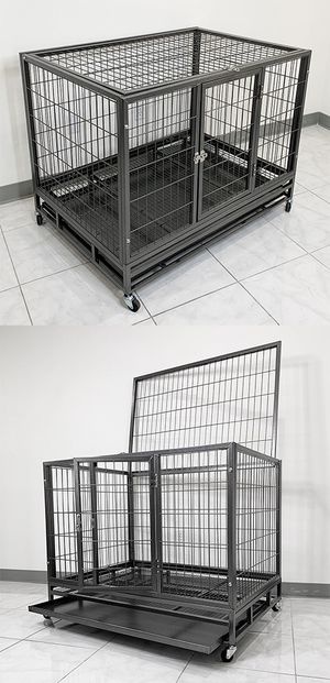 "New $130 Heavy Duty 42x30x34"" Large Dog Cage Pet Kennel Crate Playpen w/ Wheels for Large Pets for Sale in El Monte, CA"