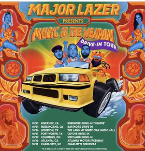 Major Lazer Drive In Tour Ticket for Sale in Riverside, CA