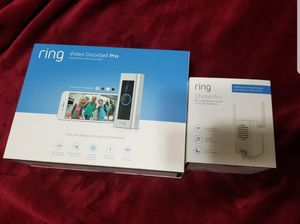 Ring Video Doorbell Pro with Ring Chime Pro Brand new in box never opened for Sale in Houston, TX