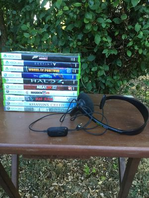 Xbox 360 games and headset for Sale in Sheridan, OR