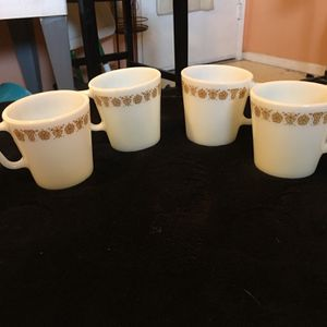 Pyrex Butterfly Gold Coffee Cups for Sale in Sun City West, AZ