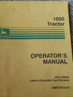 John Deer 1050 Tractor Manual for Sale in Valparaiso,  IN