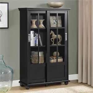 Black Sliding Door Bookcase (Blue & White Available) for Sale in Dallas, TX