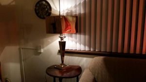 Retro, Buffed, Stainless steel, Table Lamp for Sale in Seattle, WA