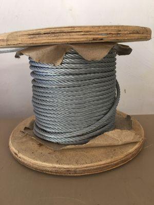 "1/4"" galvanized steel cable. for Sale in Suffolk, VA"