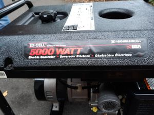EX-CELL 5000WATT GENERATOR with BRIGGS&STRATTON MOTOR for Sale in Seattle, WA