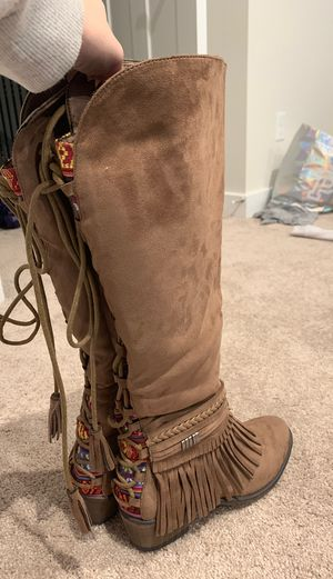 Suede fringe fall boots for Sale in Simpsonville, SC