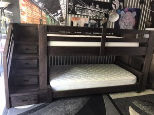Modern farmhouse style TWIN bunk bed😍NO Holds-No Deliver,SERIOUS BUYERS ONLY🙂 for Sale in Raleigh, NC