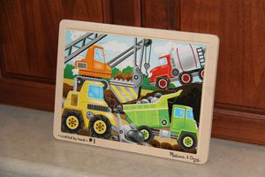 Melissa and Doug Construction Jigsaw Puzzle $5 for Sale in Stockton, CA