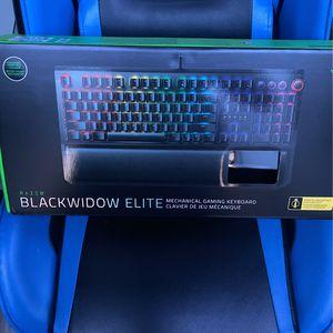 Razor Black widow Elite Mechanical Gaming Keyboard for Sale in El Segundo, CA