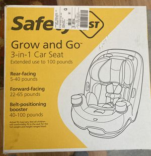 Safety First Grow and Go 3 in 1 car seat for Sale in Renton, WA
