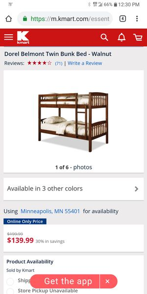 Belmont Bunk Bed for Sale in Lincoln, KS