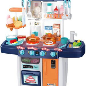 Brand New!Kitchen Playset, Kids Play Kitchen with Realistic Lights & Sounds,Simulation of Spray, Play Sink with Running Water,Dessert Shelf Toy for Sale in Hillsboro, OR