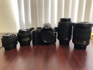 Nikon D5000 and lenses for Sale in Chino, CA