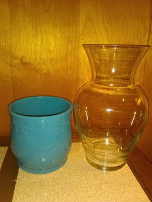 Large vase and ceramic flower pot for Sale in Chesapeake, VA