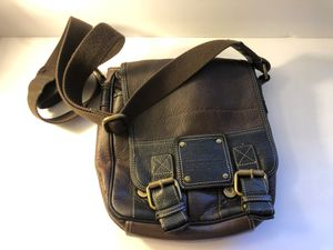 FOSSIL 54 Messenger Crossbody Shoulder Bag Pebbled Leather for Sale in Manteca, CA