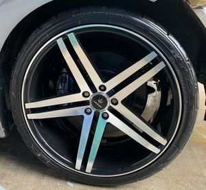 VERDE PARALLAX / CONTINENTAL 20'' INCH WHEEL RIMS W/ TIRES (SET OF 4) 5x114.3 for Sale in Fort Lauderdale, FL