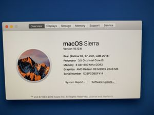 27in 5K iMac 1TB/8GB for Sale in Jacksonville, NC