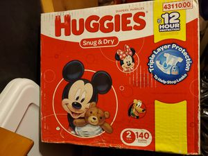 Huggies snug and dry size 2 140 each for 25 for Sale in Montclair, CA