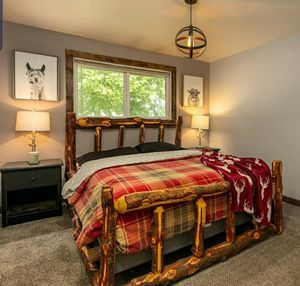 Queen log bed for Sale in Kennewick, WA