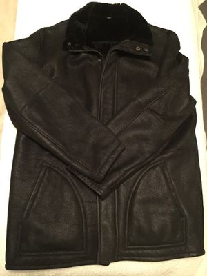 Barney's shearling jacket size lg for Sale in Washington, DC