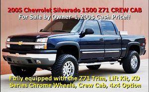 CashPrice $12OO 2005 Chevrolet Silverado 1500 Z71 CREW CAB for Sale in Garden Grove, CA