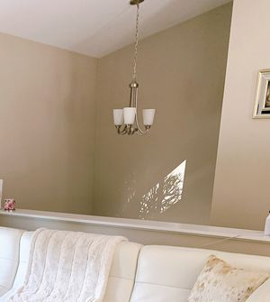 3 light brushed nickel chandelier for Sale in Warwick, RI