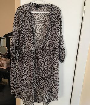 Torrid plus size sheer cheetah babydoll tunic top 3X for Sale in Philadelphia, PA