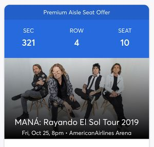 Mana - Rayando el Sol Concert Tickets for Sale in Lake Worth, FL
