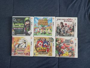 3DS Game Lot- Pokémon Sun, Animal Crossing, Fire Emblem Fates, Luigi's Mansion 2 for Sale in Bloomington, CA