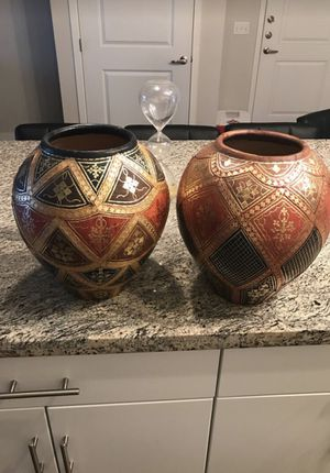 Decorative (Plant Pots) with a leather covering for Sale in Phoenix, AZ