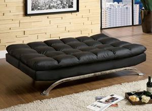 Futon Sofa ( Black and Brown) for Sale in Burbank, CA
