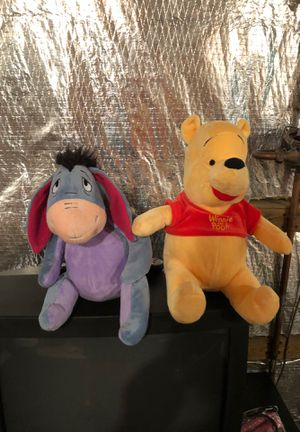 Pooh and eeyore plush dolls for Sale in Abingdon, MD