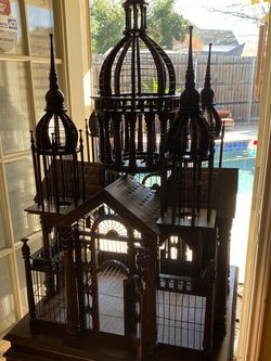 Wooden BIRD CAGE-MASSIVE, EXQUISITE, STAND for Sale in North Richland Hills,  TX