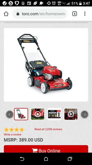 Toro Personal Pace 22 in. 163 cc Self-Propelled Lawn Mower for Sale in Hyattsville, MD