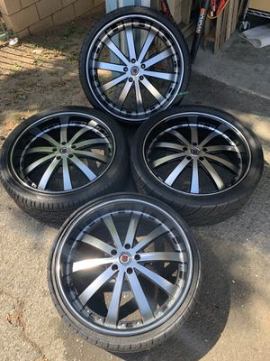 """22"""" 5x114.3 Red Sport RSW77 Wheels for Sale in La Verne, CA"""