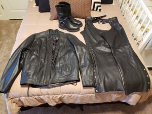 Motorcycle leathers and boots. for Sale in Buckley, WA