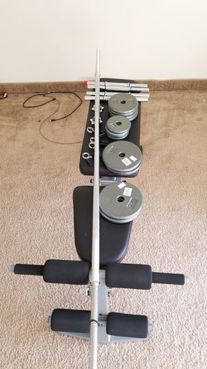 Fitness - adjustable bench weights rod for Sale in Peoria, AZ