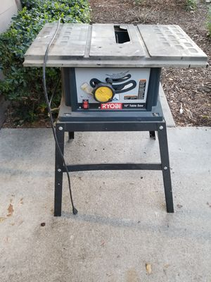 """USED RYOBI 10"""" TABLE SAW for Sale in Poway, CA"""