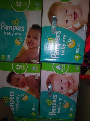 Pampers size 2 3 y 4 $ 43 por caja oh cambio por formula Enfamil 12 0z for Sale in Los Angeles, CA