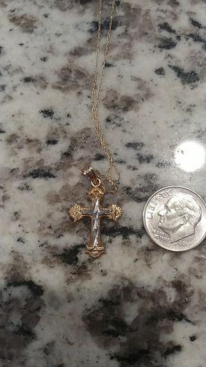14k Gold Cross & Chain for Sale in Las Vegas, NV